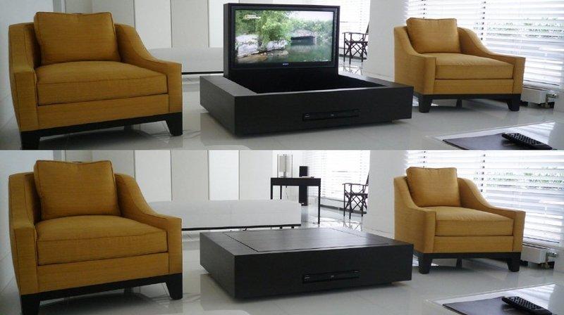 MFU - Staffe tv motorizzate da incasso per televisori a scomparsa nel mobile