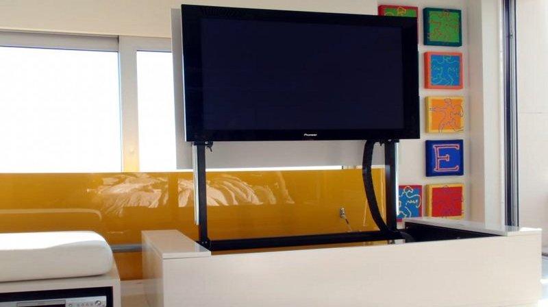 Mobile per computer a scomparsa latest arredo designs mobile soggiorno con scrivania per arredo - Mobile porta tv a scomparsa ...