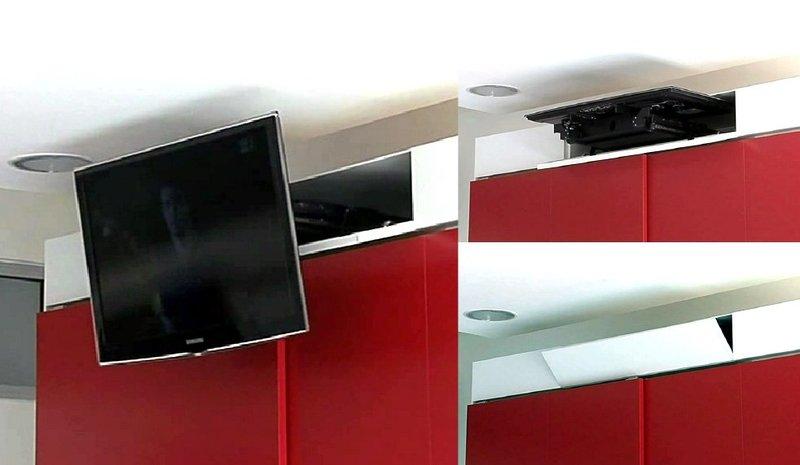 Tv moving mfa staffa tv motorizzata da incasso mobile per tv a scomparsa nell 39 armadio - Tv a scomparsa nel mobile ...