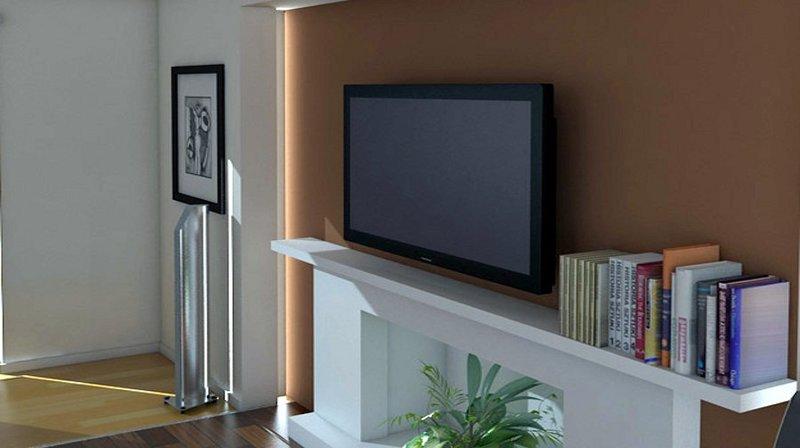 Tv moving ead supporto tv motorizzato da parete per tv a muro con avanzamento e discesa - Supporto tv da parete ...
