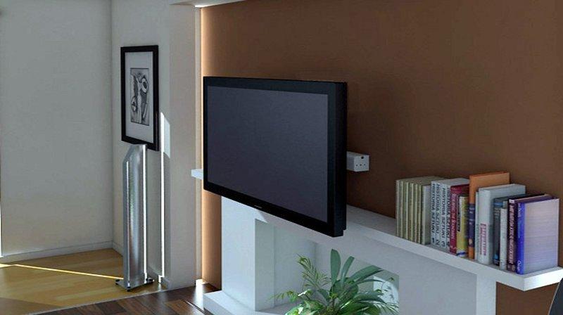 TV MOVING MLW - Supporto tv motorizzato da parete per tv a muro ...