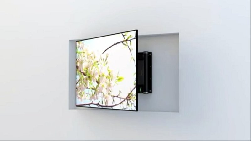 TV MOVING FSE90 - Supporto tv motorizzato da parete per tv a muro ...