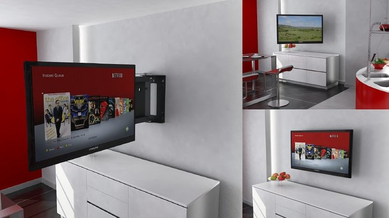 Staffe Mobili Per Tv.Tv Moving Pse90 Staffa Tv Motorizzata Da Parete Per Tv A Muro