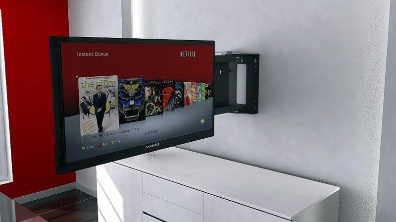 Tv moving pse90 staffa tv motorizzata da parete per tv a muro con rotazione a bandiera - Porta televisore da parete ...