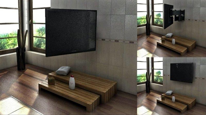 Porta Televisore A Muro Affordable Porta Tv Da Parete In Supporto