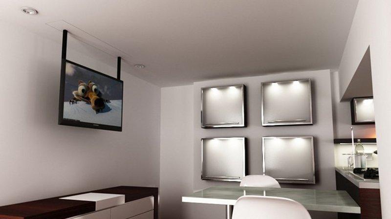 tv moving mlv - sollevatore tv motorizzato da soffitto per tv ... - Soggiorno Con Tv A Scomparsa 2
