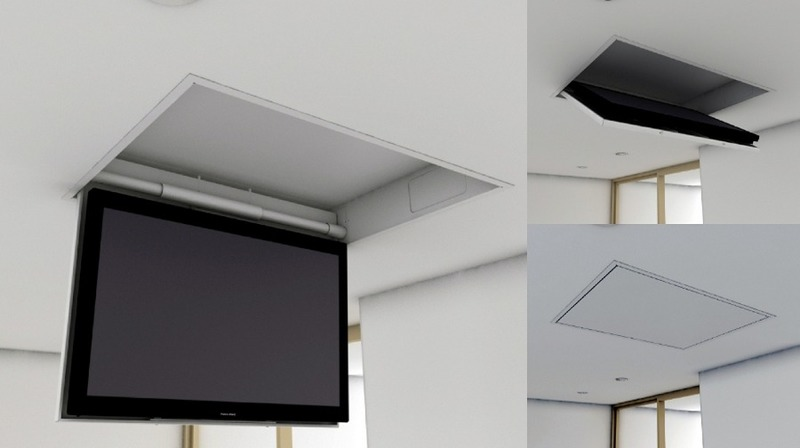 Tv moving chr supporto tv motorizzato da soffitto per tv - Porta tv motorizzato ...