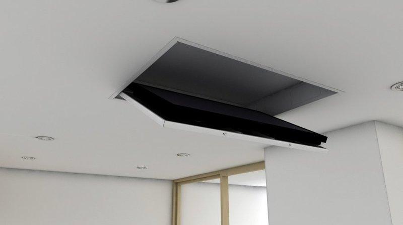 tv moving mfc - supporto tv motorizzato da soffitto per tv ... - Soggiorno Con Tv A Scomparsa 2