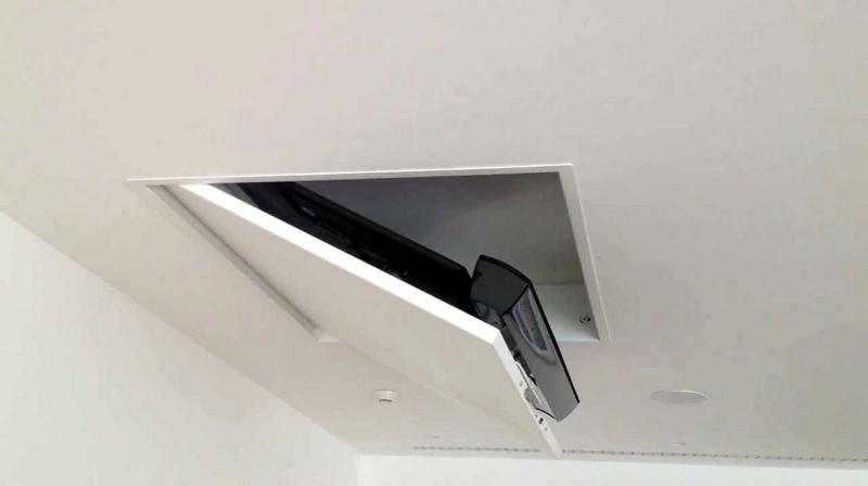 tv moving mfch - sollevatore tv motorizzato da soffitto per tv a ... - Soggiorno Con Tv A Scomparsa