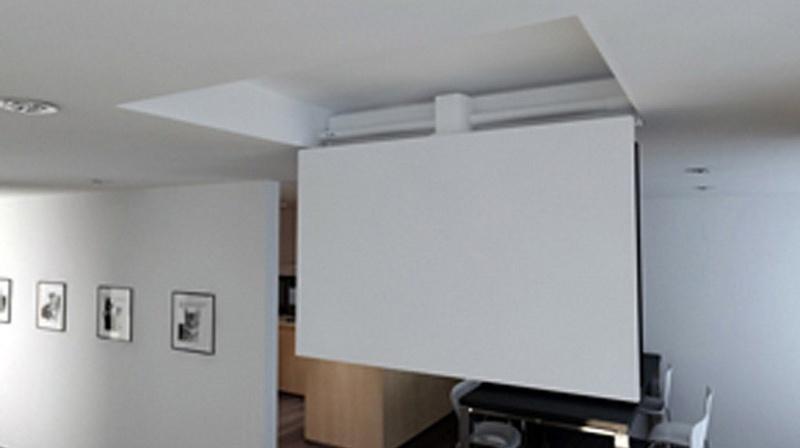 Tv moving chrs staffa tv motorizzata da soffitto per tv - Porta tv a soffitto ...