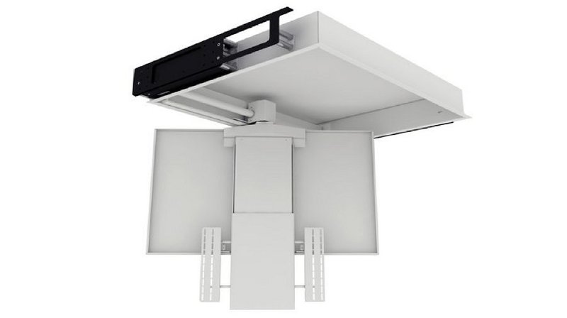 Tv moving chrst staffa tv motorizzata da soffitto per tv - Porta tv motorizzato ...