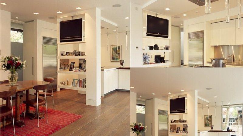 MS - Supporti tv motorizzati da soffitto per televisore girevole