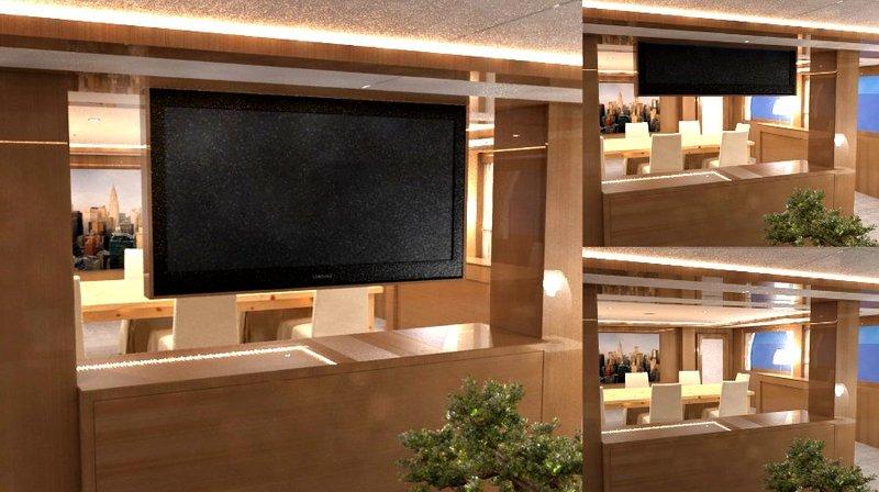 I-MLUBE - Lift tv motorizzati da soffitto per televisori a scomparsa nel soffitto