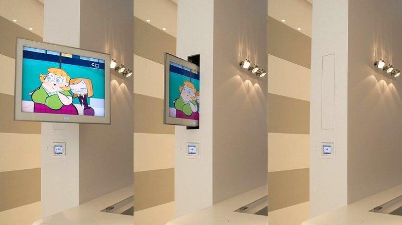 MLO - Supportii tv motorizzati speciali per televisori a scomparsa nel mobile o dentro la parete