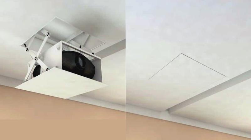 Supporti Per Mensole A Scomparsa.Tv Moving Pd Staffa Motorizzata Per Videoproiettore A Scomparsa