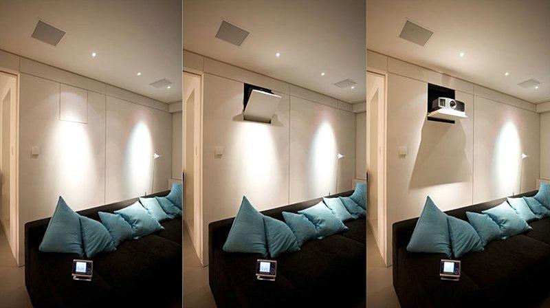 MPH - Supporti tv motorizzati per videoproiettori a scomparsa nella parete o nel mobile